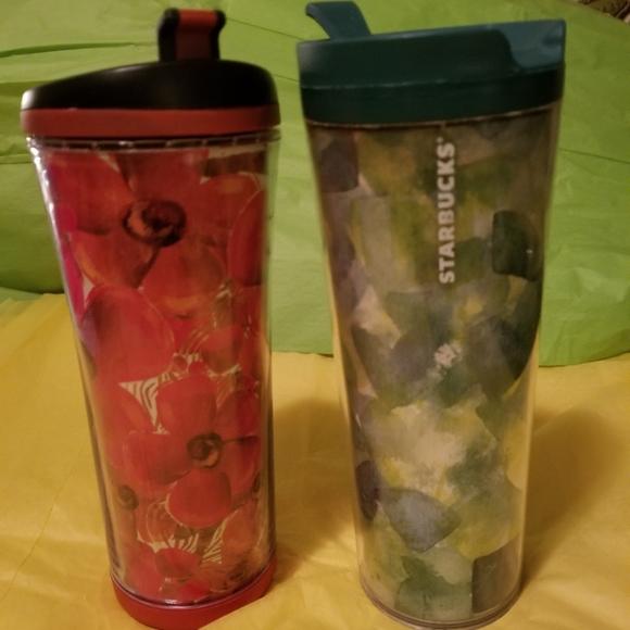 2 Starbucks tumblers